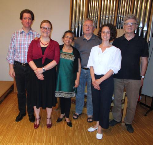 v.l. Johannes Mellein, Carola Maute, Suzanne Da Costa-Kunz, Gerhard Vogt, Andrea Schlechtendahl, Josef Hugenschmidt